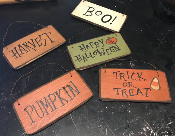 Mini Fall Halloween Signs