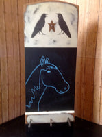 Black Crow Chalk Board - Simple Pleasures ~ Bountiful Treasures