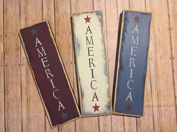 Americana Small Sign - Simple Pleasures ~ Bountiful Treasures