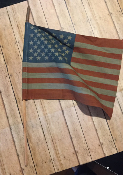 Premium American Flag on Stick Large