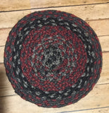 "8"" Jute Mat Various braided"