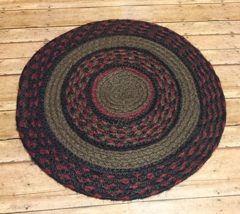 "13"" Round Mat - Simple Pleasures ~ Bountiful Treasures"