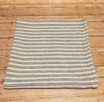 Ivory w Blue Stripe Square - Simple Pleasures ~ Bountiful Treasures