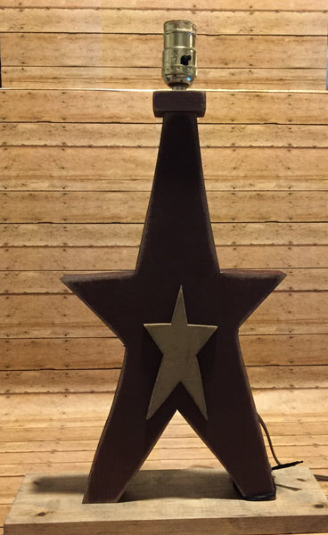 Star on Star Lamp 15""