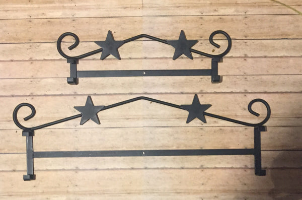 Wrought Iron Star Sign Holder - Simple Pleasures ~ Bountiful Treasures