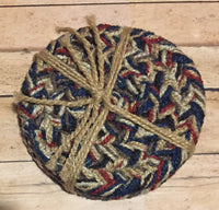 Braided Coaster Set USA - Simple Pleasures ~ Bountiful Treasures