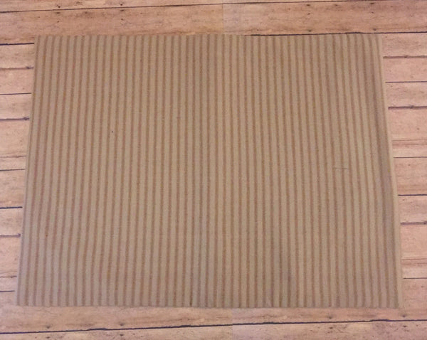 Linen mustard striped placemats - Simple Pleasures ~ Bountiful Treasures