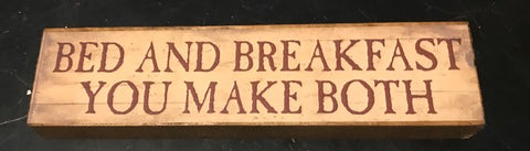 Bed and Breakfast Mini Sign