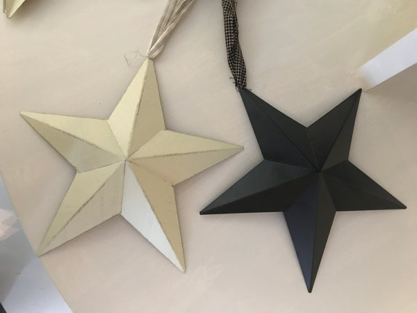 "9"" Ivory Barn Star - Simple Pleasures ~ Bountiful Treasures"