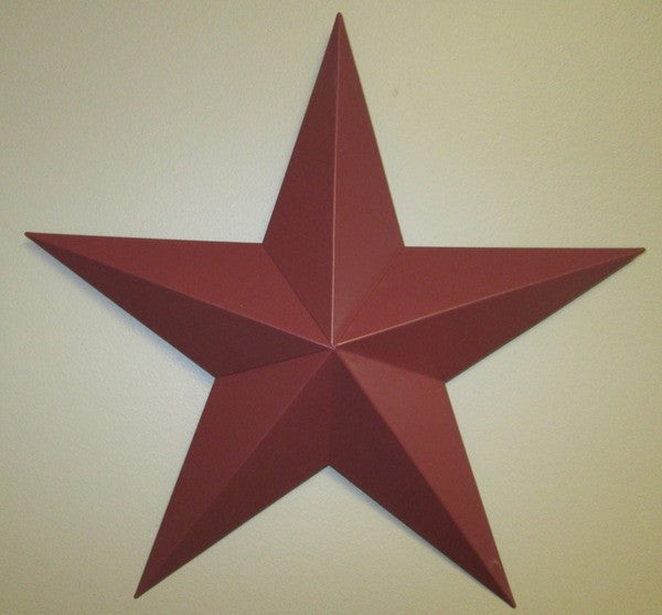 Burgundy Barn Star - Simple Pleasures ~ Bountiful Treasures