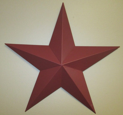 Burgundy Barn Star