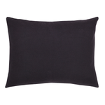 Black Burlap Luxury Sham - Simple Pleasures ~ Bountiful Treasures