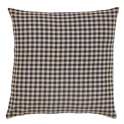 Black Check Euro Sham - Simple Pleasures ~ Bountiful Treasures
