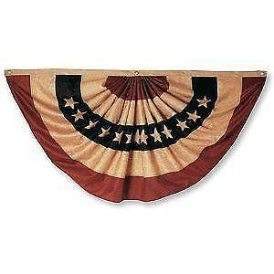 Burlap Americana Bunting - Simple Pleasures ~ Bountiful Treasures