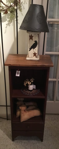 2 Shelf Cabinet with Drawer - Simple Pleasures ~ Bountiful Treasures