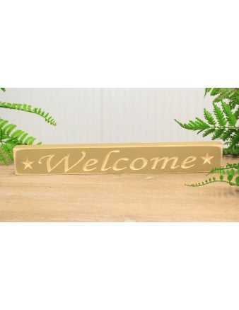"12"" Welcome Sign SPECIAL BUY - Simple Pleasures ~ Bountiful Treasures"
