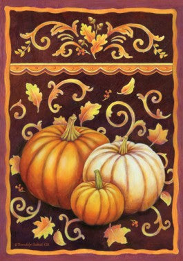 Fall Pumpkins Flag - Simple Pleasures ~ Bountiful Treasures