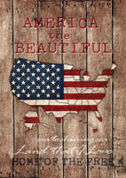 America the Beautiful Map Flag - Simple Pleasures ~ Bountiful Treasures