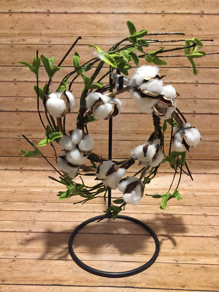 Cotton Wreath - Simple Pleasures ~ Bountiful Treasures
