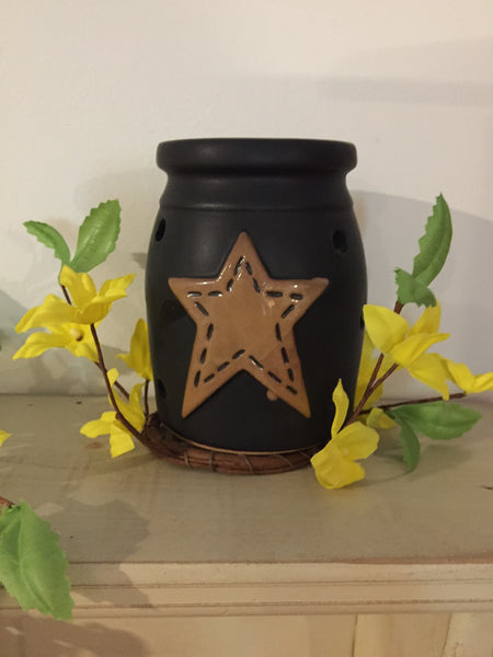 Black Tea Light Holder with Star