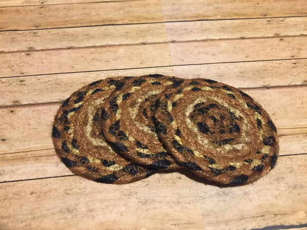 Brown and Black Coaster Braided