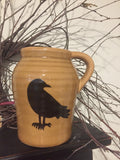 "6"" Ceramic Jug w Crow"