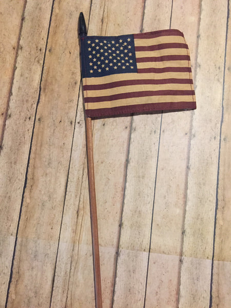 "6"" American Flag on Long Stick"