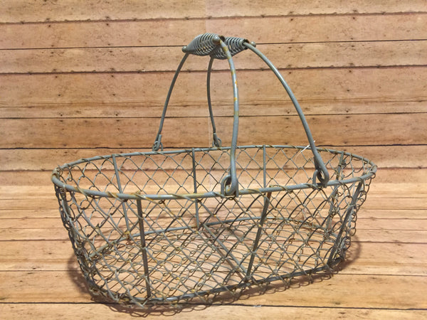 Farmhouse Wire Basket - Simple Pleasures ~ Bountiful Treasures
