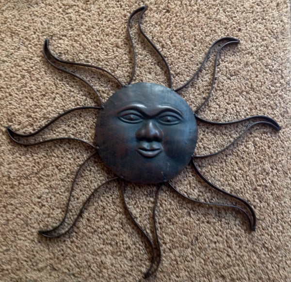 "Sun Face 17"" with Rays - Simple Pleasures ~ Bountiful Treasures"