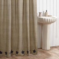 Vincent Scalloped Shower Curtain - Simple Pleasures ~ Bountiful Treasures