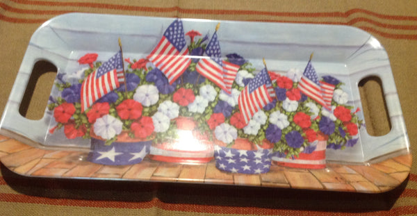 Americana Melamine Tray - Simple Pleasures ~ Bountiful Treasures