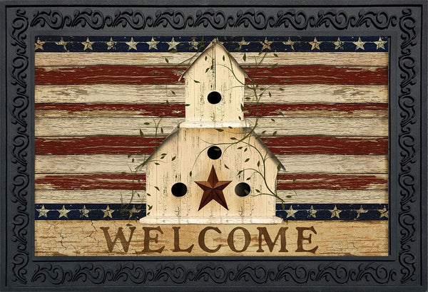 Americana Welcome Doormat - Simple Pleasures ~ Bountiful Treasures