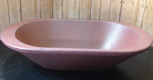 Burgundy Oval Bowl - Simple Pleasures ~ Bountiful Treasures