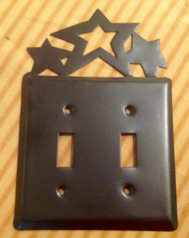 Tin Star Plate Cover Black
