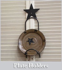 Small Plate Holder with Cut Out - Simple Pleasures ~ Bountiful Treasures