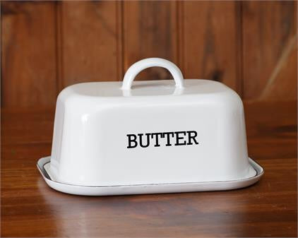Enamelware Butter Dish - Simple Pleasures ~ Bountiful Treasures