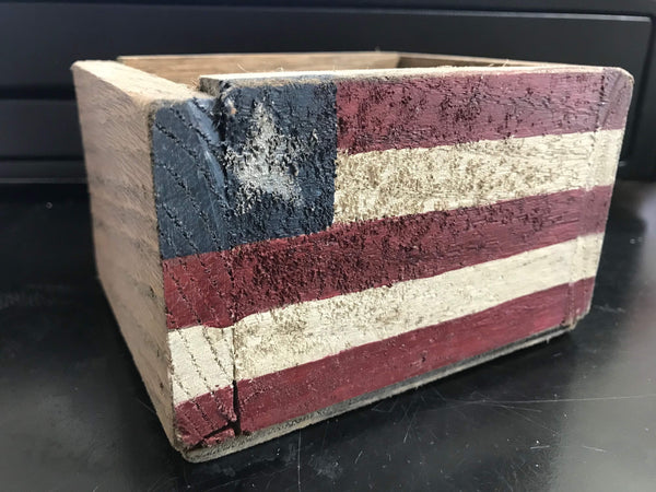 Mini Wooden Flag Box