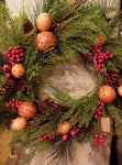 Pizza and a Project Colonial Fresh Wreath - Simple Pleasures ~ Bountiful Treasures