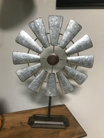 Table Top Metal Windmill - Simple Pleasures ~ Bountiful Treasures