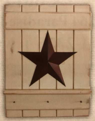 Shelf w Barn Star and Pegs
