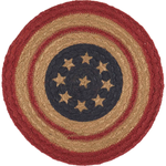 Liberty Stars  Flag Jute Mats - Simple Pleasures ~ Bountiful Treasures