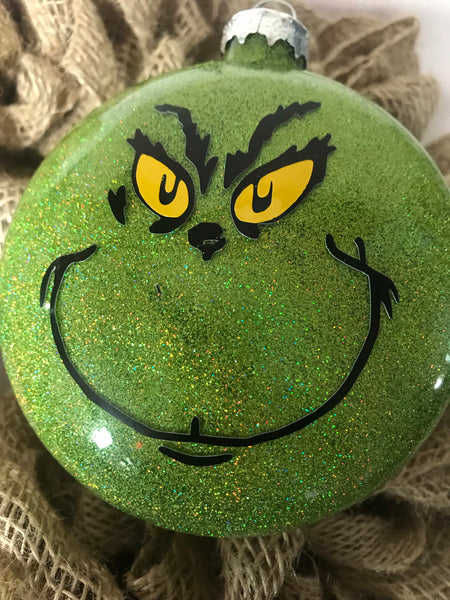 Custom Grinch Ornament - Simple Pleasures ~ Bountiful Treasures
