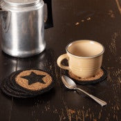Farmhouse Star Braided Coaster - Simple Pleasures ~ Bountiful Treasures
