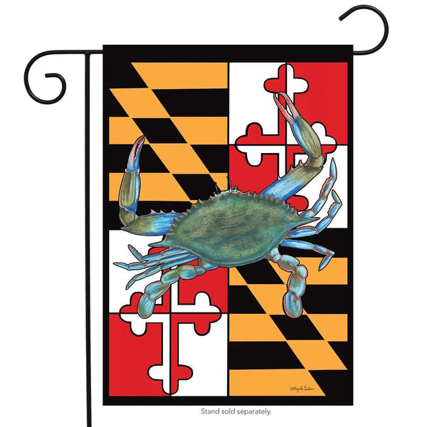 Maryland Flag with Blue Crab