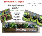 Pizza & A Project: Succulents & Sangria - Simple Pleasures ~ Bountiful Treasures