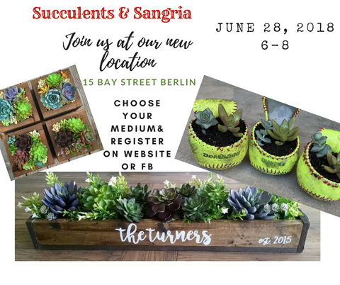 Pizza & A Project: Succulents & Sangria
