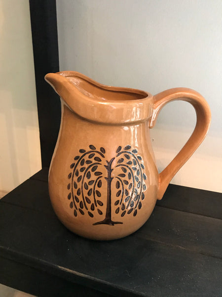 Large Mustard Willow Pitcher