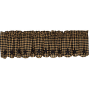 Black Star Scallop Valance - Simple Pleasures ~ Bountiful Treasures
