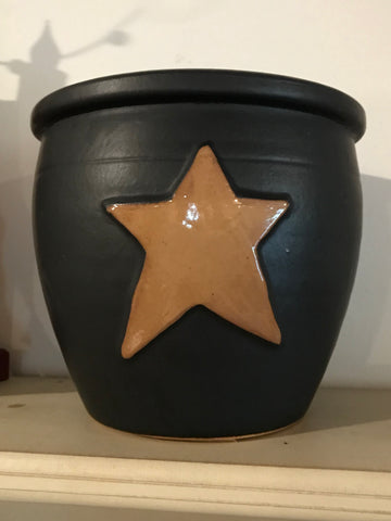 Black Crock with Mustard Star - Simple Pleasures ~ Bountiful Treasures