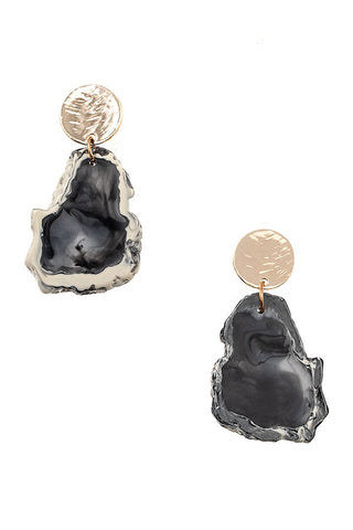 Geode Type Post Earring